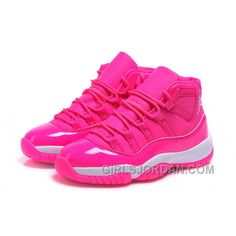"2017 Girls Air Jordan 11 ""Pink Everything"" Pink White Shoes For Sale Free Shipping"