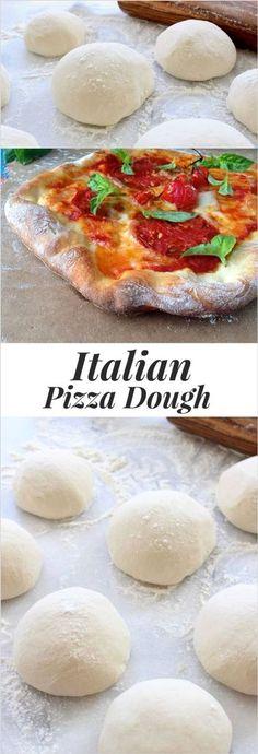 Rustic Italian Pizza Dough Recipe, Thin, Crispy and Chewy   CiaoFlorentina.com @CiaoFlorentina