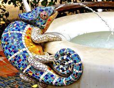 mosaic iguana