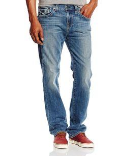 True Religion Mens Jeans size 32 Ricky Straight Fit Jean In Lake View NWT $198 #TrueReligion #ClassicStraightLeg