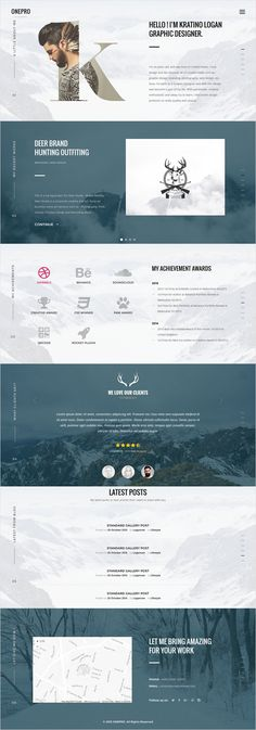 Onepro is a clean and trendy #HTML #Template designed with Grid-Based Approach for #freelancer or a lot of type of websites, like modern corporate pages, blogs, shops, and trendy personal pages with 25+ unique homepage layouts download now➩ https://themeforest.net/item/onepro-creative-multipurpose-html5-template/18263641?ref=Datasata