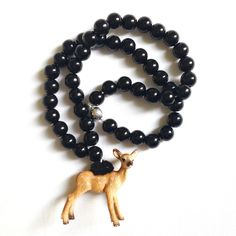 Pirates & Ponies Black Bambi Necklace