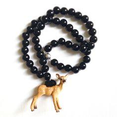 Pirates & Ponies Black Bambi Necklace