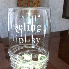 Tip jar for the bartender!!! Great idea!!!