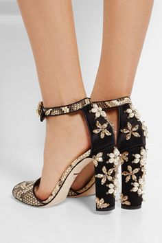 Dolce Gabbana - I think these might be the most beautiful shoes Ive ever seen. Theyre too pretty to wear!