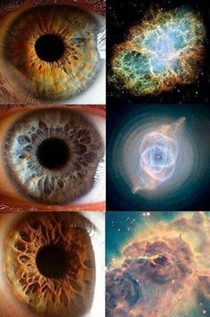 The universe in our eyes