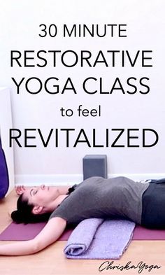 The Perfect Restorative Yoga for Spring — ChriskaYoga This is a 30 Minute Restorative Yoga Class to feel Revitalized and Rejuvenated! This one focuses on opening the heart center to provide you with a. Yoga Régénérateur, Yoga Yin, Vinyasa Yoga, Restorative Yoga Sequence, Yoga Sequences, Iyengar Yoga, Ashtanga Yoga, Yoga For Kids, Yoga For Men