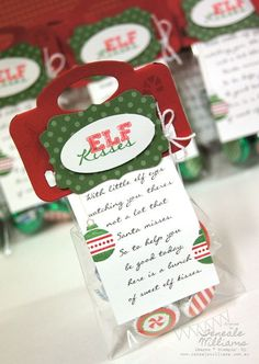 With little elf eyes watching you there not a lot that Santa misses. So to help you be good today here is a bunch of sweet elf kisses. This could make a neat gift from elf on the shelf, or it would be neat just as a gift for others!