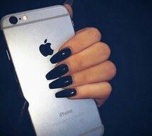 Nail art black colour