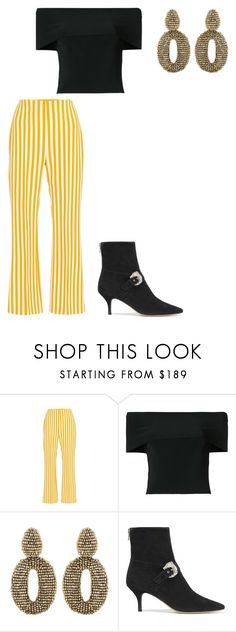 """""""You chase me pt 2"""" by seraphiner ❤ liked on Polyvore featuring Clover Canyon, T By Alexander Wang, Oscar de la Renta and Dorateymur"""