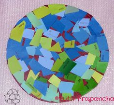 paint chip earth day idea via www.puttiprapancha.com #preschool #craft #earthday