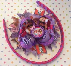 Lego friends boutique bow and headband set  on Etsy, $10.00