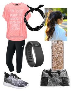 """""""Untitled #25"""" by kmcgrath02 ❤ liked on Polyvore featuring NIKE, Replace, Vera Bradley, Case-Mate and Fitbit"""