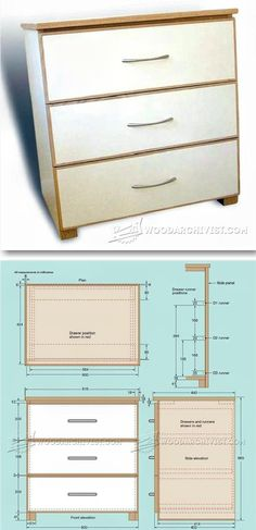 Three-Drawer Chest Plans - Furniture Plans and Projects | WoodArchivist.com