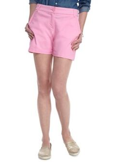 Crown  Ivy  Pink Sky Solid 5-in Short