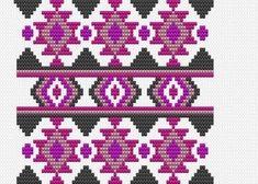 Worki mochilla i wayuu Tapestry Crochet Patterns, Crochet Motifs, Bead Loom Patterns, Crochet Stitches Patterns, Crochet Chart, Diy Crochet, Cross Stitch Patterns, Knitting Patterns, Mosaic Patterns