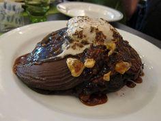 German Chocolate Pancakes at Jam located in Logan Square Chicago!