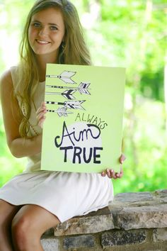 Aim+True//+Arrows+and+Typography+Inspired+Canvas+Board//+by+bySav,+$25.00