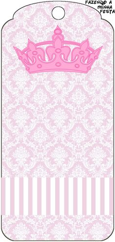Tag Agradecimento Coroa de Princesa Provençal: