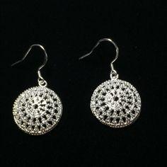 Snowball earrings Snowball your rings 1/2 inch in diameter Jewelry Earrings