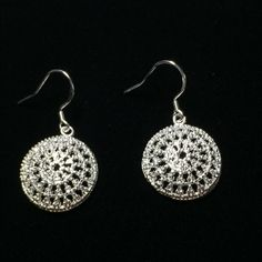 Snowball earrings Snowball your rings 1/2 inch in diameter Jewelry Earrings