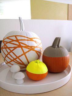 Halloween/Fall Mummy rubber band Pumpkin