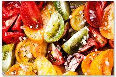 Heirloom tomatoes at Peninsula Grill in #Charleston, S.C. #summer #heirloomtomatoes #yum