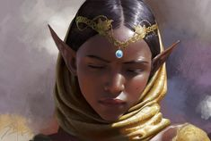 Art featuring elves, our pointy-eared fantasy friends. Fantasy Races, High Fantasy, Fantasy World, Fantasy Art, Fantasy Inspiration, Character Design Inspiration, Black Girl Art, Art Girl, Character Portraits