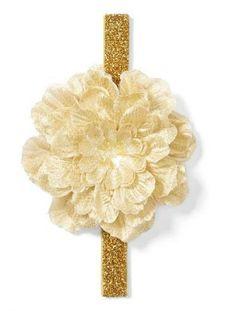 Glitter, flower handband.