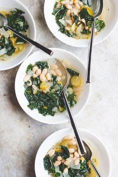 Restorative Greens and Beans Soup | Reset and restore during the holidays or in January with this naturally vegan and gluten-free restorative greens and beans soup.