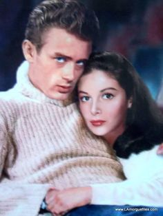 Pier Angeli and James Dean.