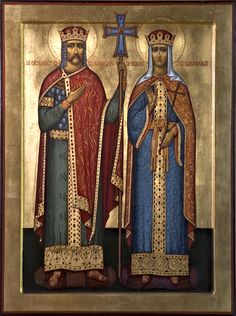 Russian__Vladimir of Kiev and Olga, First Christian Rulers in the Rus.