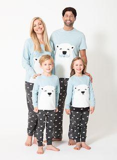 Christmas Family Blue Polar Bear Pyjamas Years) from Tu at Sainsbury's ! Matching Christmas Pjs, Matching Pjs, Matching Family Outfits, Family Christmas, Christmas Outfits, Christmas Stuff, White Polar Bear, Bear Design, Baby Sale