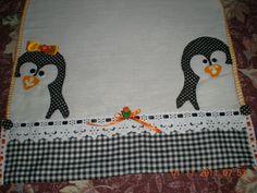 Val Artes: Pano de prato com pinguim