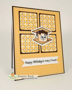 Happy Birthday card with May SOTM from Peachy Keen Stamps