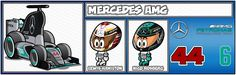 Parrilla - MiniDrivers Force India, Nico Rosberg, Keep Fighting, Mercedes Amg, Formula 1, F1, Shape, Grilling