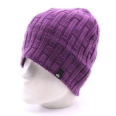 Купить шапку носок Quiksilver Vertigo Beanie Purple Strike в интернет-магазине Proskater. Crochet Beanie, Crochet Yarn, Knitted Hats, Baby Head, Knitting Accessories, Hats For Men, Knitting Patterns, Winter Hats, Balaclava