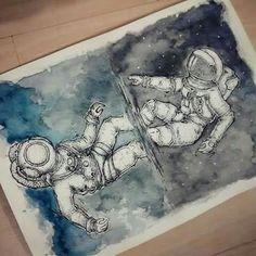 Ocean- space// diver- astronaut