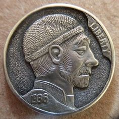 "CHRIS ""DECHRISTO"" DEFLORENTIS HOBO NICKEL - FEARFUL FREDDY - 1936 BUFFALO NICKEL"