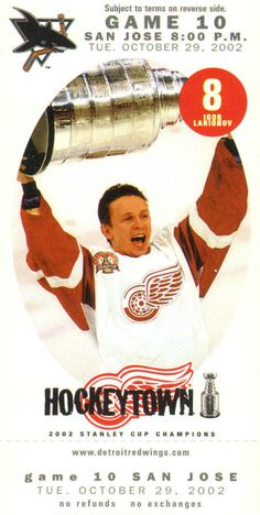 Igor Nikolayevich Larionov (b. Dec 3, 1960) is a Russian agent and retired professional ice hockey player, known as The Professor. Along with Viacheslav Fetisov, he was instrumental in breaking the barrier that kept Soviet players from joining the (NHL). He played the centre position, and is considered one of the best passers of all time. Larionov won 3 Stanley Cup championships with the Detroit Red Wings (1997, 1998, 2002) and was inducted as a member of the Hockey Hall of Fame on Nov 10…