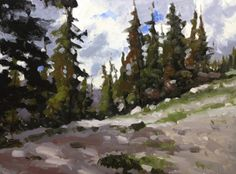 Taos Mountain, painting by artist David Boyd, Jr