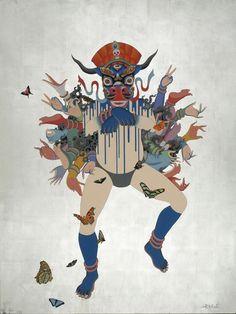 CONTEMPORARY TIBETAN THANGKA PAINTINGS BY TSHERIN SHERPA