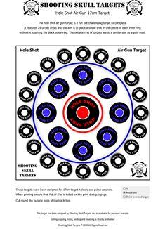 Pistol Targets, Rifle Targets, Shooting Targets, Target Practice, Air Rifle, Vintage Air, Shooting Range, Guns, Skull