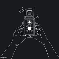 Vector of analog film camera | free image by rawpixel.com Denim Coat, Film Camera, No Time For Me, Free Images, Vector Free, Logos, Darth Vader, Random Stuff, Instagram