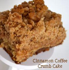 Cinnamon Coffee Crumb Cake by krissy adams Just Desserts, Delicious Desserts, Yummy Food, Tasty, Sweet Recipes, Cake Recipes, Dessert Recipes, Yummy Treats, Sweet Treats