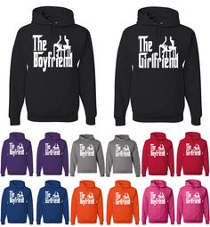 The Boyfriend The Girlfriend Funny Hoodies Matching Couples Love Relationship Sweatshirts From $ 37.99