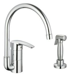 Eurostyle Series Single Handle Kitchen Faucet with Side Spray (Click to Enlarge)