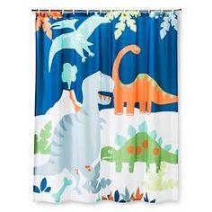 Circo™ Dino Shower Curtain - True White/Bold Yellow Opaque