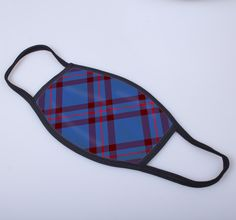 non medical face covering with Elliot printed tartan