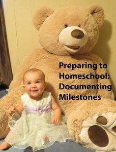 Preparing to Homeschool: Documenting Milestones